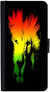 Snoogg Colourful Lion 2654 Designer Protective Flip Case Cover For Htc One X