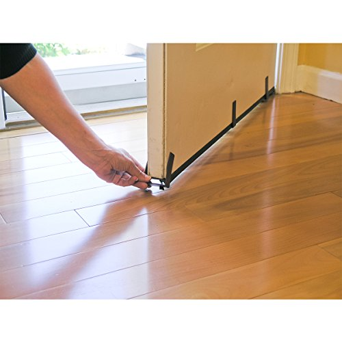 Magnetic clip on door draft stopper cold air out energy for Door draft stopper