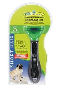FURminator deShedding-Pflegewerkzeug für kurzhaarige kleine Hunde bis 9 kg, Größe S