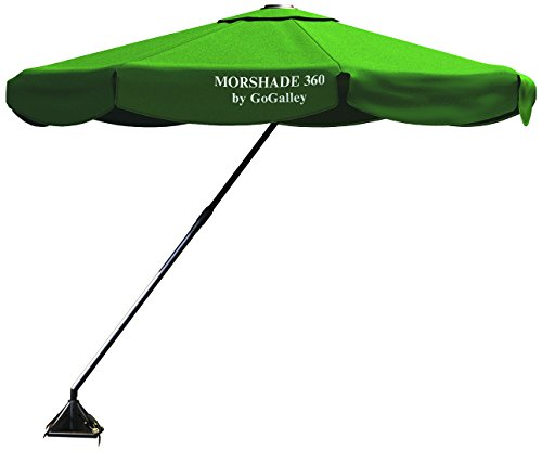 Morshade 360 9-Feet Shade Till Sunset With Base Stands In 40Mph Wind Home And Portable Shade Umbrella Canopy