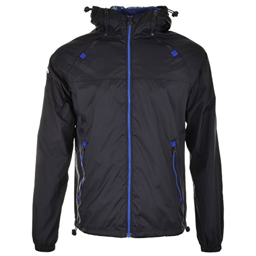 Superdry - DUAL ZIP THROUGH TRI COLOUR, Colore: Blu navy Navy Large