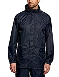 Romano Mens Blue Lightweight Waterproof Hooded Rain Jacket