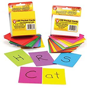 Rainbow Brights Pocket Cards 3X3 White