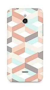 Amez designer printed 3d premium high quality back case cover forInfocus M2 (multicolour square pattern )