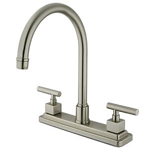"Part No. KS8798CQLLS Kingston Brass KS8798CQLLS Claremont Two Handles 8"" Kitchen Faucet without Sp..."