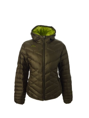 Powderhorn Damen Daunen Ski Jacke Powdersmoke, bronze, M, 3200513080 0074 8050