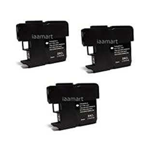 Amsahr LC65 Compatible Replacement Brother Ink Cartridges for Select Printers/Faxes - 3 Pack, Black