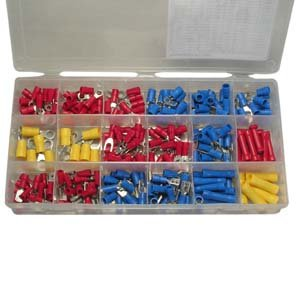 InstallerParts 230-Piece Wire Terminal Kit -- Ring, Spade, Disconnect, and Butt Connectors -- 10 to 22 Gauge