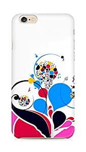 Amez designer printed 3d premium high quality back case cover for Apple iPhone 6s (Patterns colorful bright notes treble)