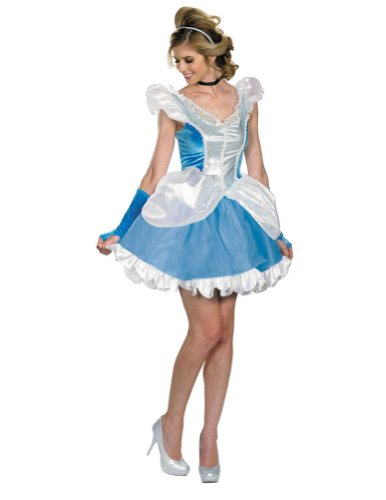 Adult-Costume Deluxe Sassy Cinderella Adult Costume 4-6 Halloween Costume