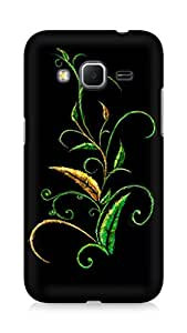 Amez designer printed 3d premium high quality back case cover for Samsung Galaxy Core Prime (Abstract Dark 34)