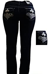 1826 Stretchy BLACK denim jeans MID-RISD WOMENS PLUS SIZE pants SKINNY PJ-3687