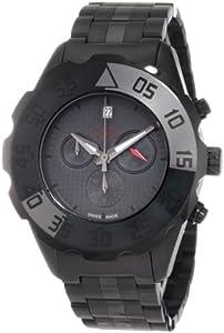 GV2 Men's Parachute Black PVD Chronograph Watch 3005B