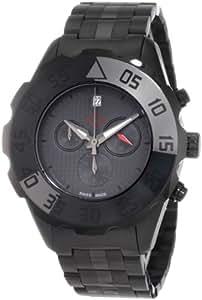 GV2 by Gevril Men's 3005B Parachute Black PVD Chronograph Bracelet Date Watch
