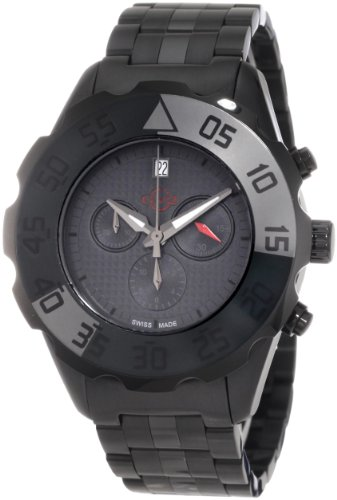 GV2 by Gevril Men's 3005B Parachute Black PVD Chronograph Bracelet Date Watch