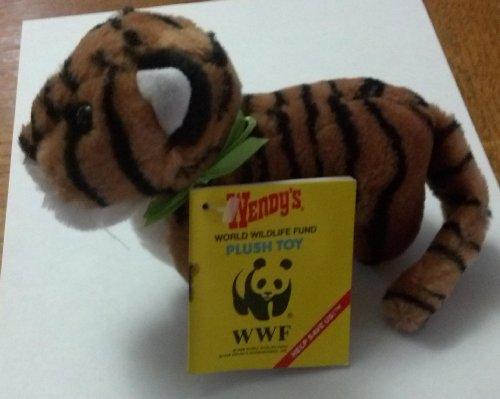 "Bengal Tiger 6"" Plush Wendy's 1988 World Wildlife Fund Kids Meal Toy - 1"