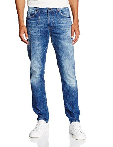 Frankie Morello Perth, Jeans a Gamba Dritta Uomo, Blu (Blu Denim), 48 (Taglia Produttore:34)
