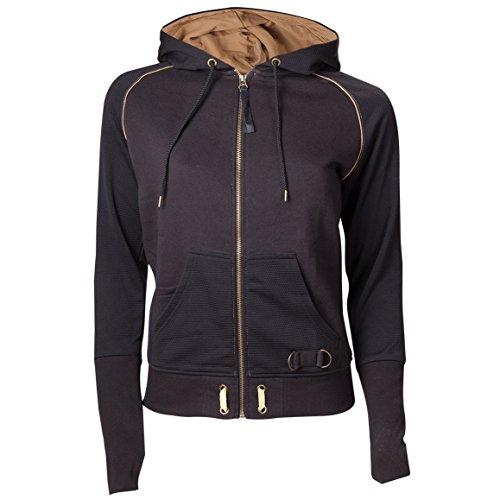 Custom 51 -  Felpa con cappuccio  - Stampa  - Maniche lunghe  - Donna Black X-Large