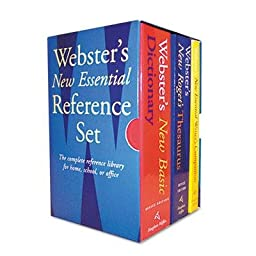 Houghton Mifflin - Webster\'s New Essential Reference Three-Book Desk Set Paperback \