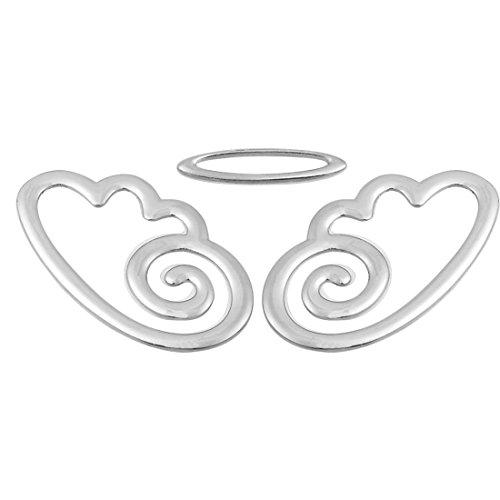 Décoratif Ange style insigne d'emblème de voiture Auto Métal Logo ton argent
