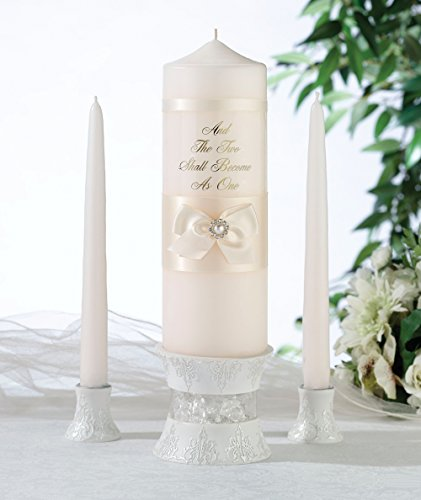 Lillian Rose Ivory Pearl Pillar and Taper Candle Set