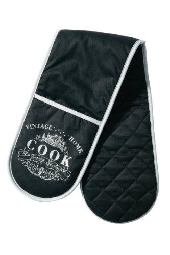premier-housewares-vintage-home-double-oven-glove-black