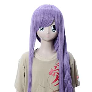 GooAction Cosplay Wigs Vocaloid GaKupo Beatiful Long Straight Purple Cosplay Wigs Party Wigs Costume Wigs for Girls and Momen
