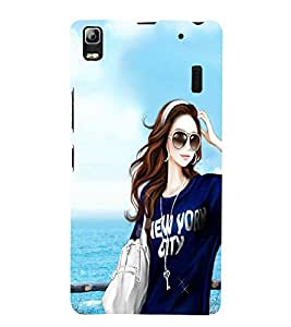 Vizagbeats girl with goggles Back Case Cover for Lenovo A7000