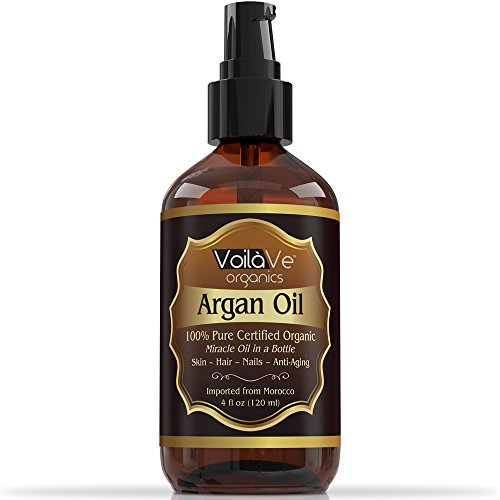 ORGANIC Argan Oil For Hair & Face - 100% Pure & ECO Certified Organic - Larger 4 oz Bottle - Miracle Oil For Every Skin Condition, Hair, Nails, Anti-aging & More! Pure Moroccan Argan Oil - 100% Guaranteed to Work Wonders for Your Body!