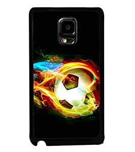 printtech Fire Football Back Case Cover for Samsung Galaxy Note i9220::Samsung Galaxy Note 1 N7000