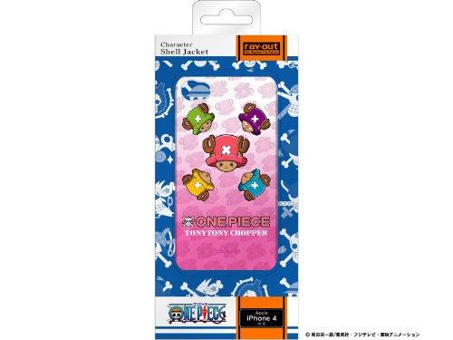 レイアウト iPhone4シリーズ用ワンピースキャラクターマルチカラーシェルジャケット チョッパーフェイス RT-OP3C/CF