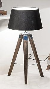 stehlampe mit schirm tischlampe lampe antik holz braun. Black Bedroom Furniture Sets. Home Design Ideas