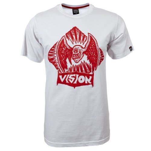 Vision Street Wear Flying Skull T-Shirt , weiß