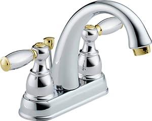 Delta 25995LF-CB-D Two Handle Centerset Lavatory Faucet, Chrome/Brass