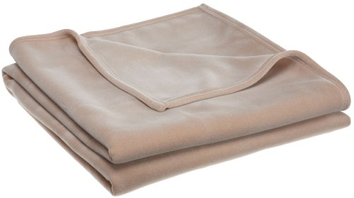 Big Save! Martex Vellux Blanket, Tan - Queen 90 x 90