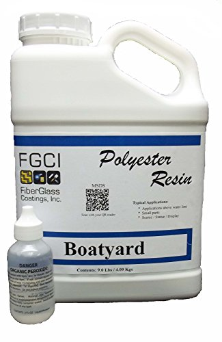 Polyester Resin Kit, Boatyard for Fiberglass, Non-Specified Blend, 1 Gallon with 2 oz MEKP (Fiberglass Resin 5 Gallon compare prices)