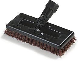 Carlisle 36531027 Swivel Scrub Plastic Block Power Scrub Floor Brush, Nylon Grit Bristles, 8\
