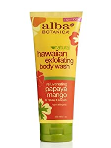 Alba Alba Botanica Body Wash, Hawaiian, Papaya Mango , 7 Ounce