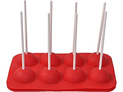 8 Cup Tasty Top Cake Pops Silicone Baking Pop Guide Flex Pan Mold Tray Decorate