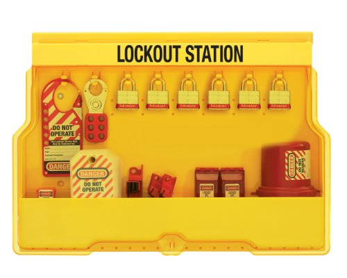 Master Lock Electrical Lockout Station, Includes 6 Steel Padlocks