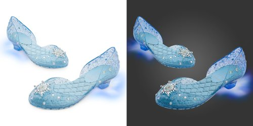 Disney Store Frozen Princess Elsa Light-Up Shoes/Costume Slippers Size 13/1