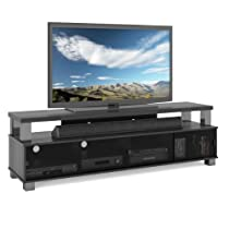 Hot Sale B-003-RBT Bromley 75-Inch 2 Tier TV Bench, Ravenwood Black