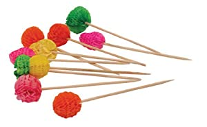 8 X Fruit Shaped Cocktail Stirrers