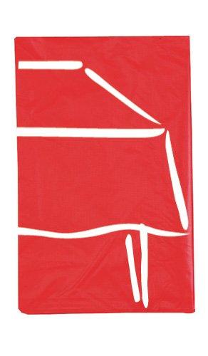 1 Nappe Plastique Pliée (140Cm X 260Cm) - Rouge Modus Vivendi - Taille Unique