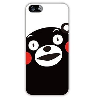 SoftBank au iPhone 5専用 熊本県 ご当地 ゆるキャラ キャラクター くまモン iPhone5 ケース カバー (くまモンのアップだモン!)