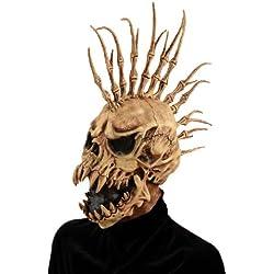 Forum Novelties Men's Sinister Fin Skull Adult Costume Mask, Brown, One Size