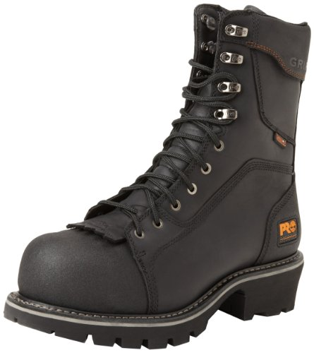Timberland PRO Men's Rip Saw Comp Toe Logger Work Boot,Black,8 M US