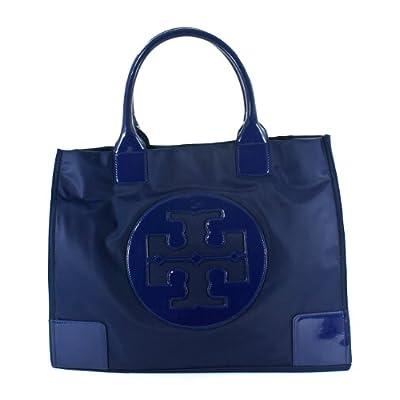 Ella Tote Nylon and Patent Handbag French Navy: Handbags: Amazon.com