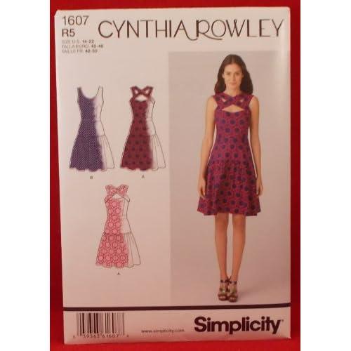 Amazon.com: Simplicity 1607 Misses Cynthia Rowley Dress Sewing Pattern