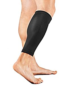Dual Leg Black Compression Calf & Shin Support Sleeves by Beauty America USA
